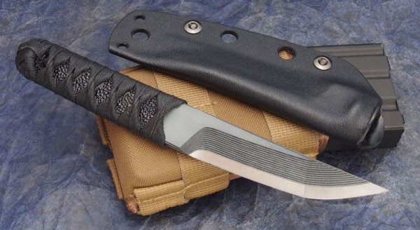 "画像1: Warren Thomas Gray + Black G-10 Satin 8.5"" TANTO (1)"
