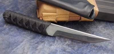 "画像2: Warren Thomas Gray + Black G-10 Satin 8.5"" TANTO"